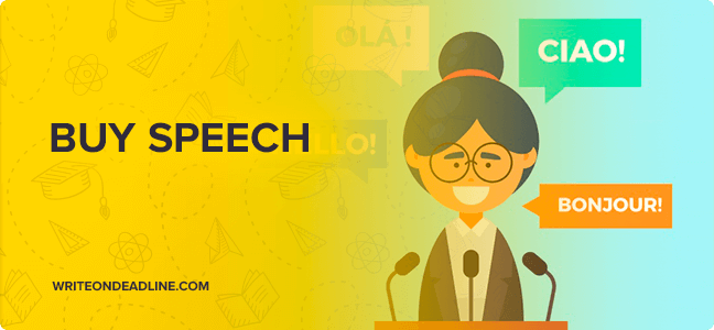 Buy a speech on line