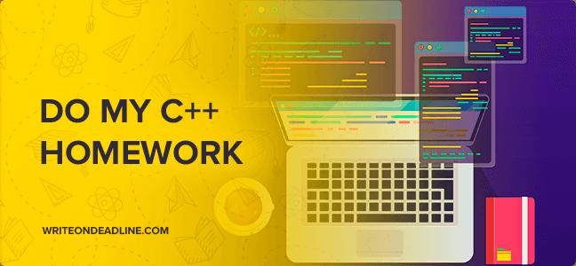 DO MY C++ HOMEWORK
