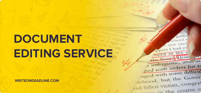 DOCUMENT EDITING SERVICE