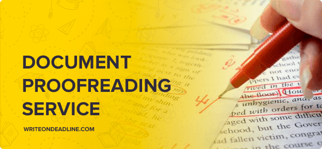 DOCUMENT PROOFREADING SERVICE