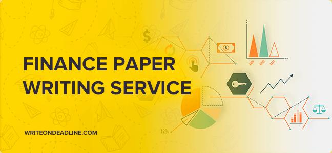 FINANCE PAPER WRITING SERVICE